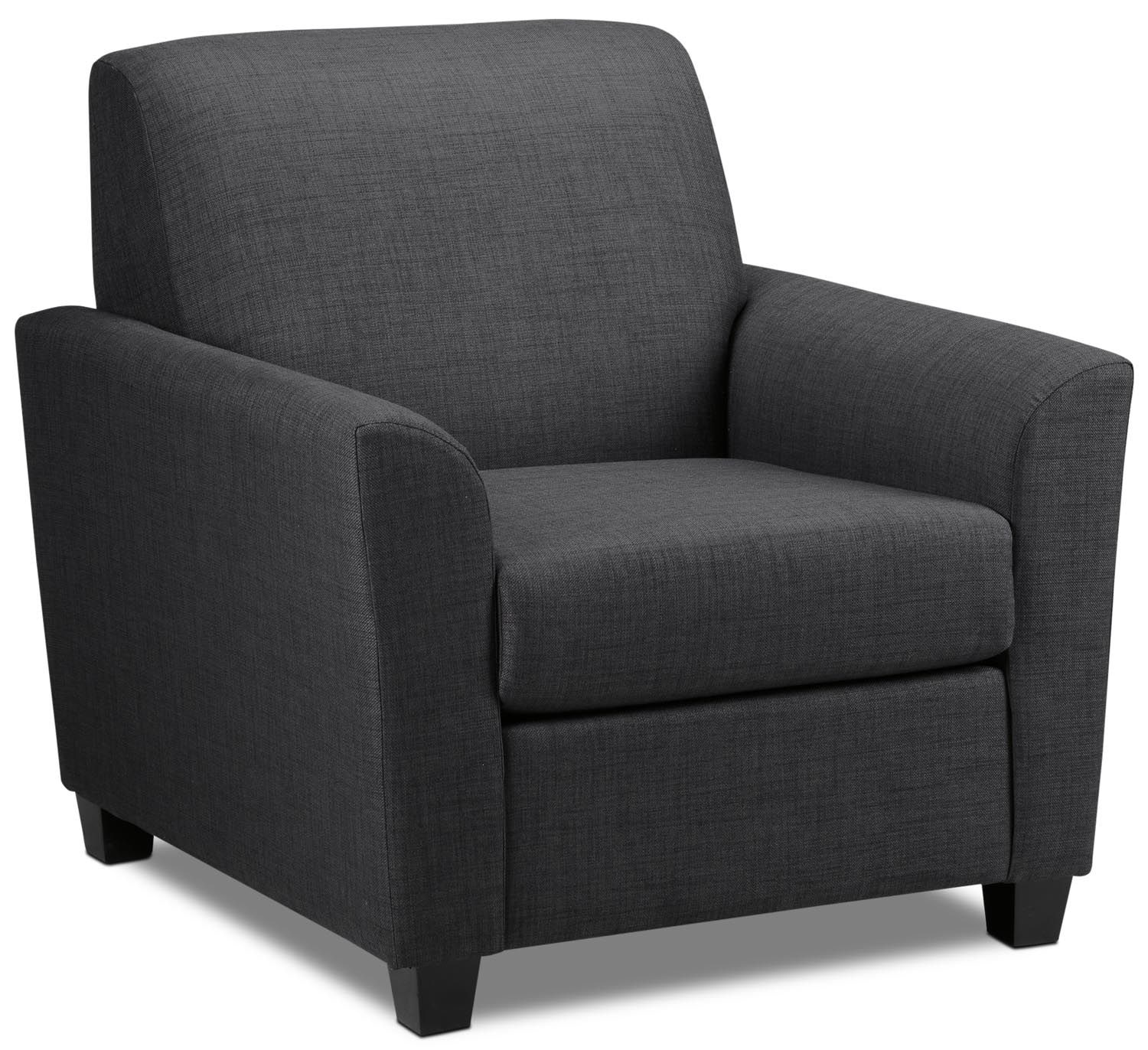 Living Room Furniture - Roxanne Chair - Charcoal