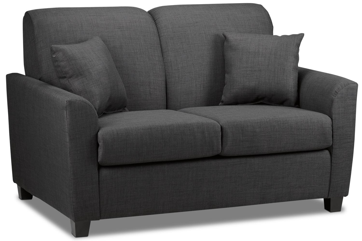 Living Room Furniture - Roxanne Loveseat - Charcoal