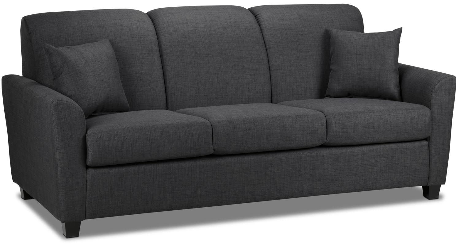 Living Room Furniture - Roxanne Sofa - Charcoal