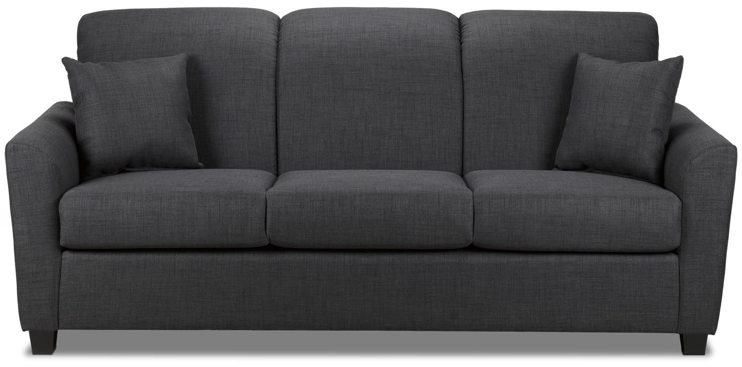 Roxanne sofa charcoal leon 39 s Couches and loveseats