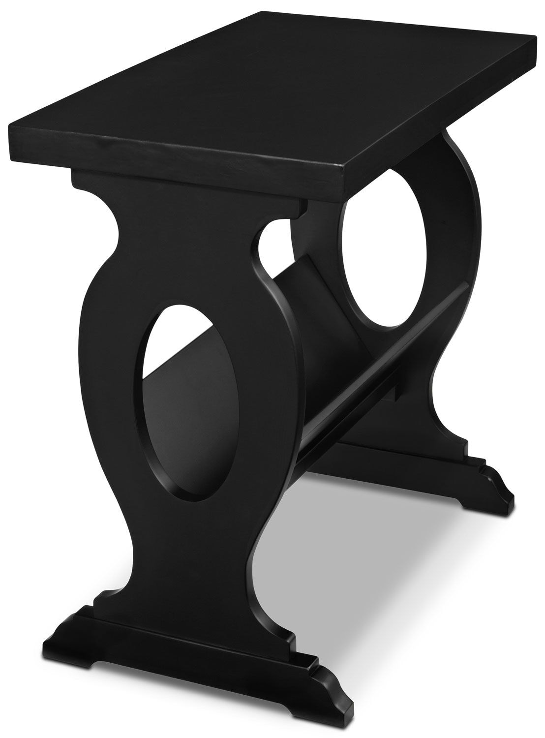 Accent and Occasional Furniture - Gander Accent Table with Magazine Rack - Black