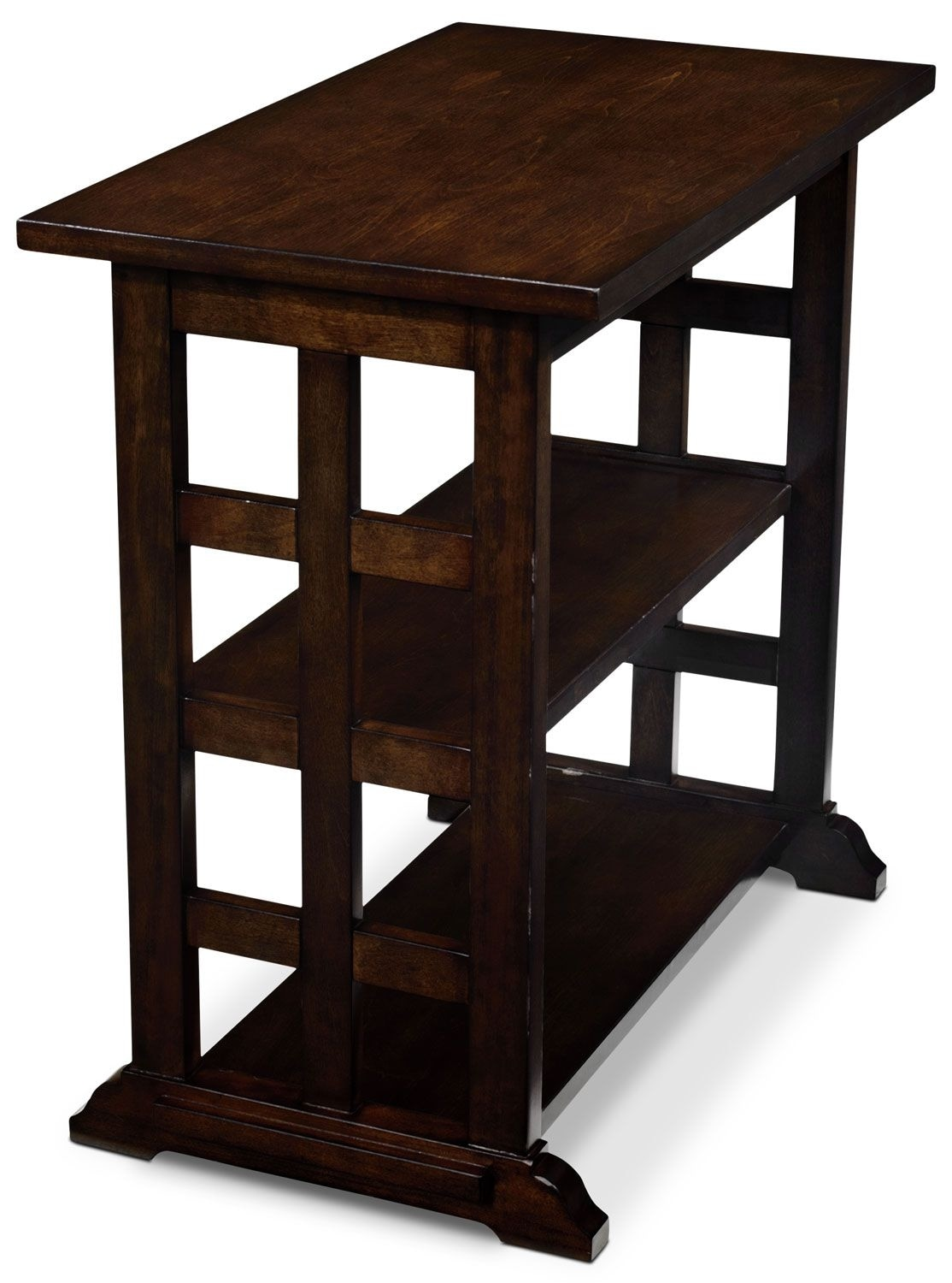 Accent and Occasional Furniture - Gander Accent Table - Dark Brown