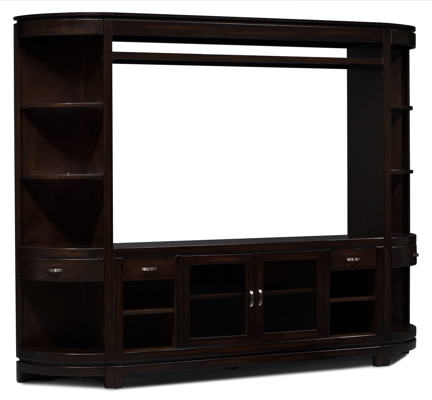 Entertainment Furniture - Tribeca 4-Piece Entertainment Centre