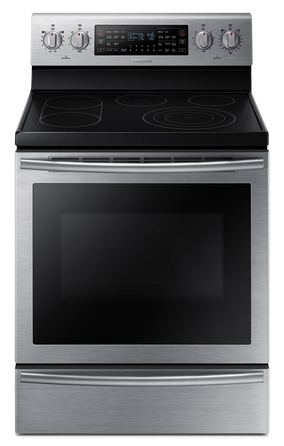 Cooking Products - Samsung Stainless Steel Electric Convection Range (5.9 Cu. Ft.) - NE59J7750WS/AC