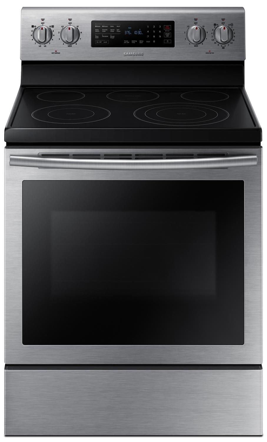 Cooking Products - Samsung Stainless Steel Electric Convection Range (5.9 Cu. Ft.) - NE59J7630SS/AC