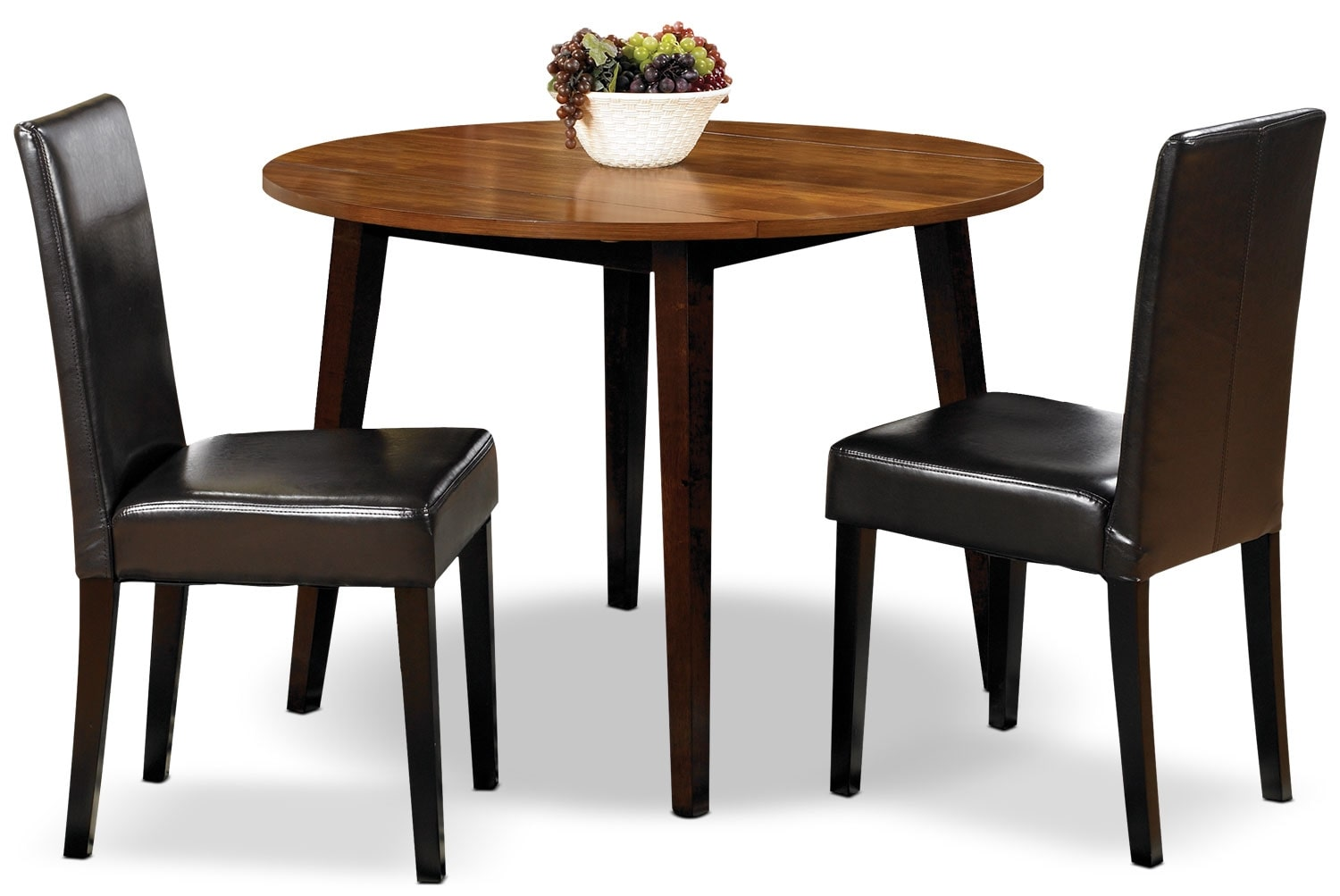Dining Room Furniture - Zara 3-Piece Dining Package with Brown Chairs
