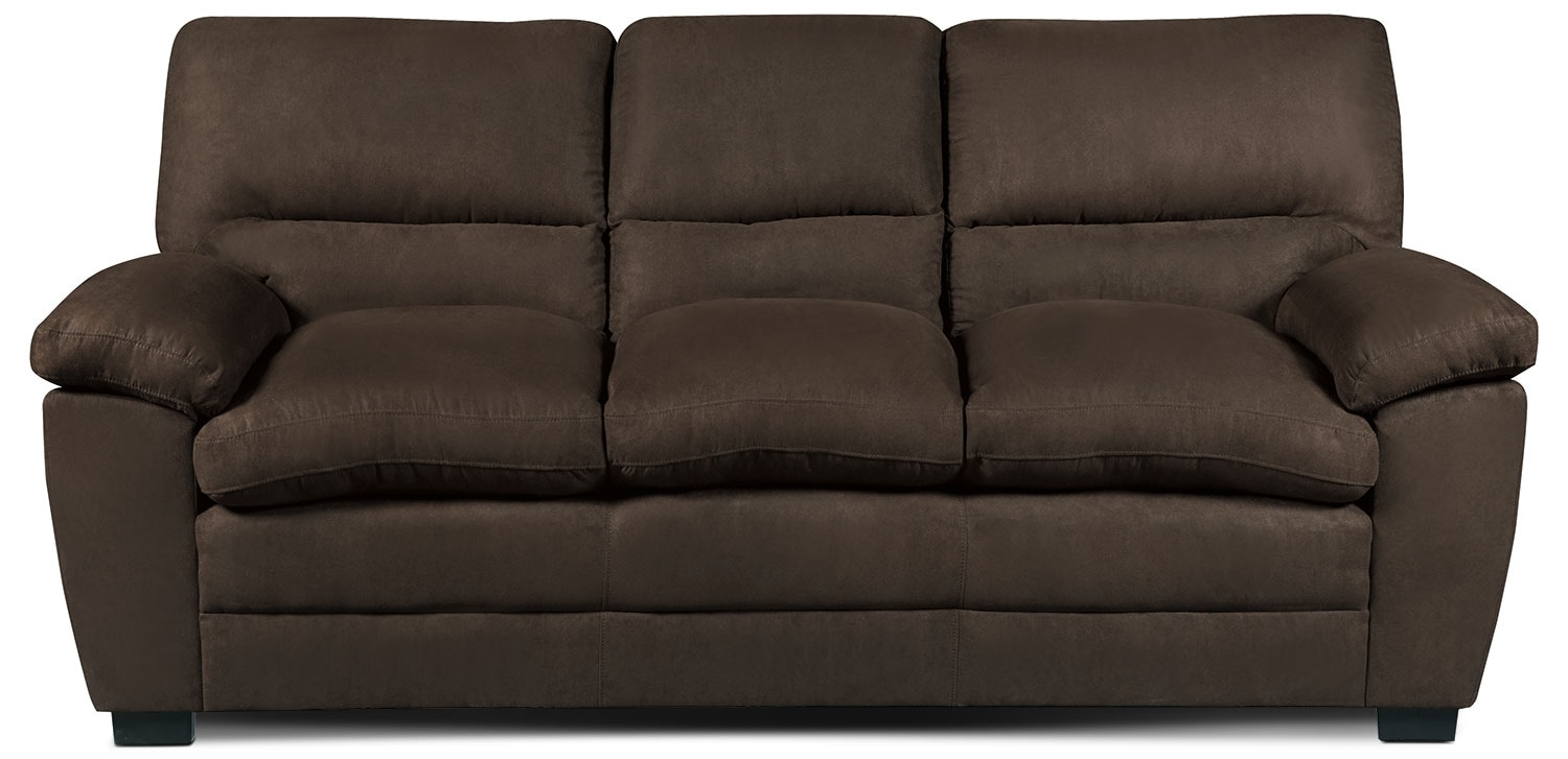 Peyton Microsuede Sofa Chocolate United Furniture Warehouse