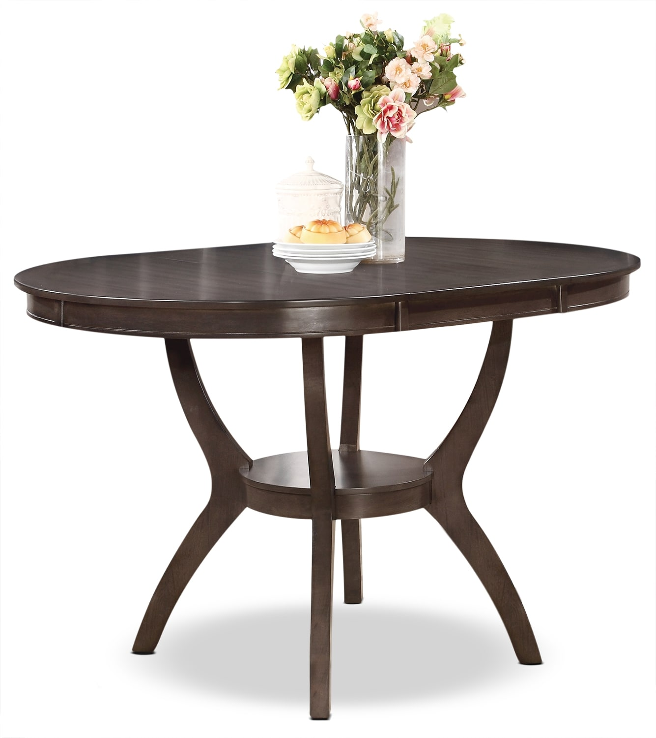 Dining Room Furniture - Adell Counter-Height Dining Table - Brown-Grey