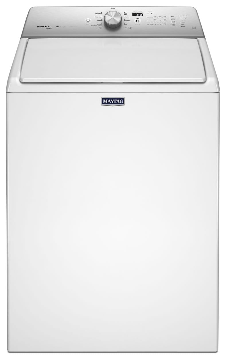 Washers and Dryers - Maytag White Top-Load Washer (5.5 Cu. Ft.) - MVWB755DW