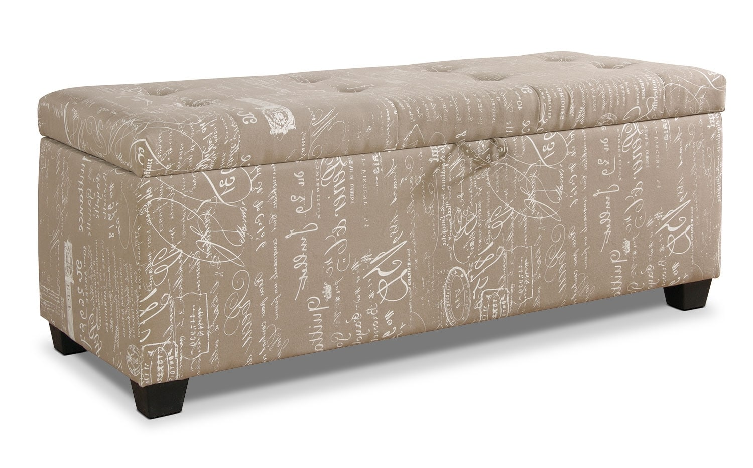 Accent and Occasional Furniture - Amalia Ottoman with Shoe Storage - Beige