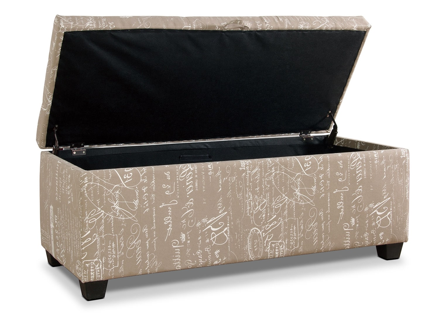 Amalia Ottoman with Shoe Storage Beige The Brick