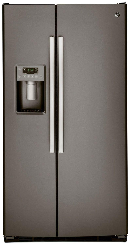 GE 23.1 Cu. Ft. Side-by-Side Refrigerator - Slate