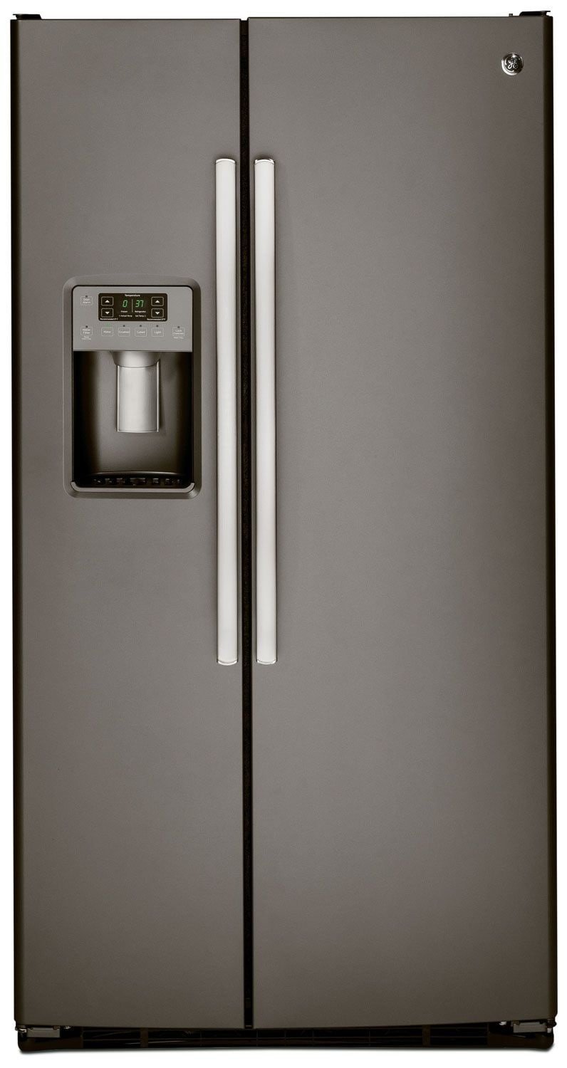 Ge 23 1 Cu Ft Side By Side Refrigerator Slate The Brick