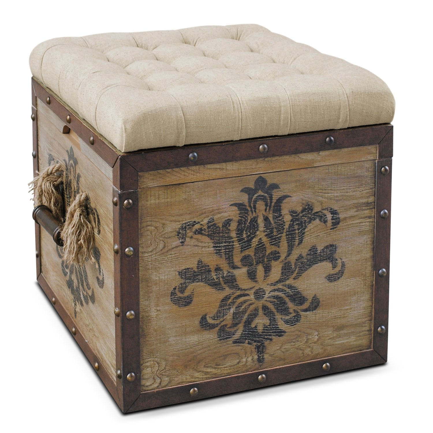Teca Storage Ottoman Rustic Value City Furniture : 385867 from valuecityfurniture.com size 1500 x 1500 jpeg 699kB