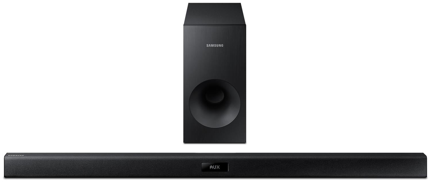 Sound Systems - Samsung 120W 2.1 Channel Sound Bar with Wired Subwoofer HW-J355/ZC