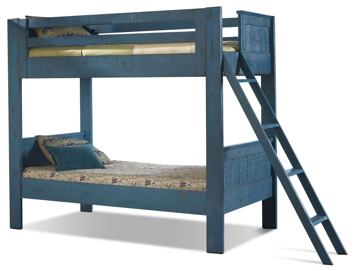 Kids Furniture - Phoenix Blue Twin Bunk Bed
