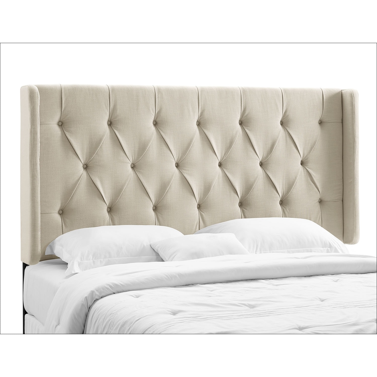 Winston cream king california king headboard value city for California king headboard
