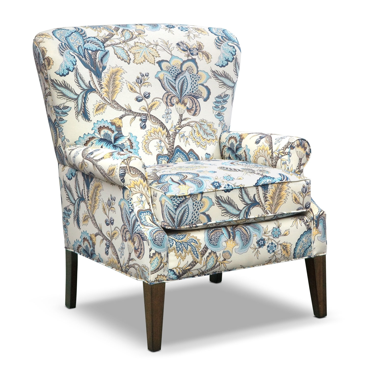 Blue living room accent chairs for Living room with accent chairs
