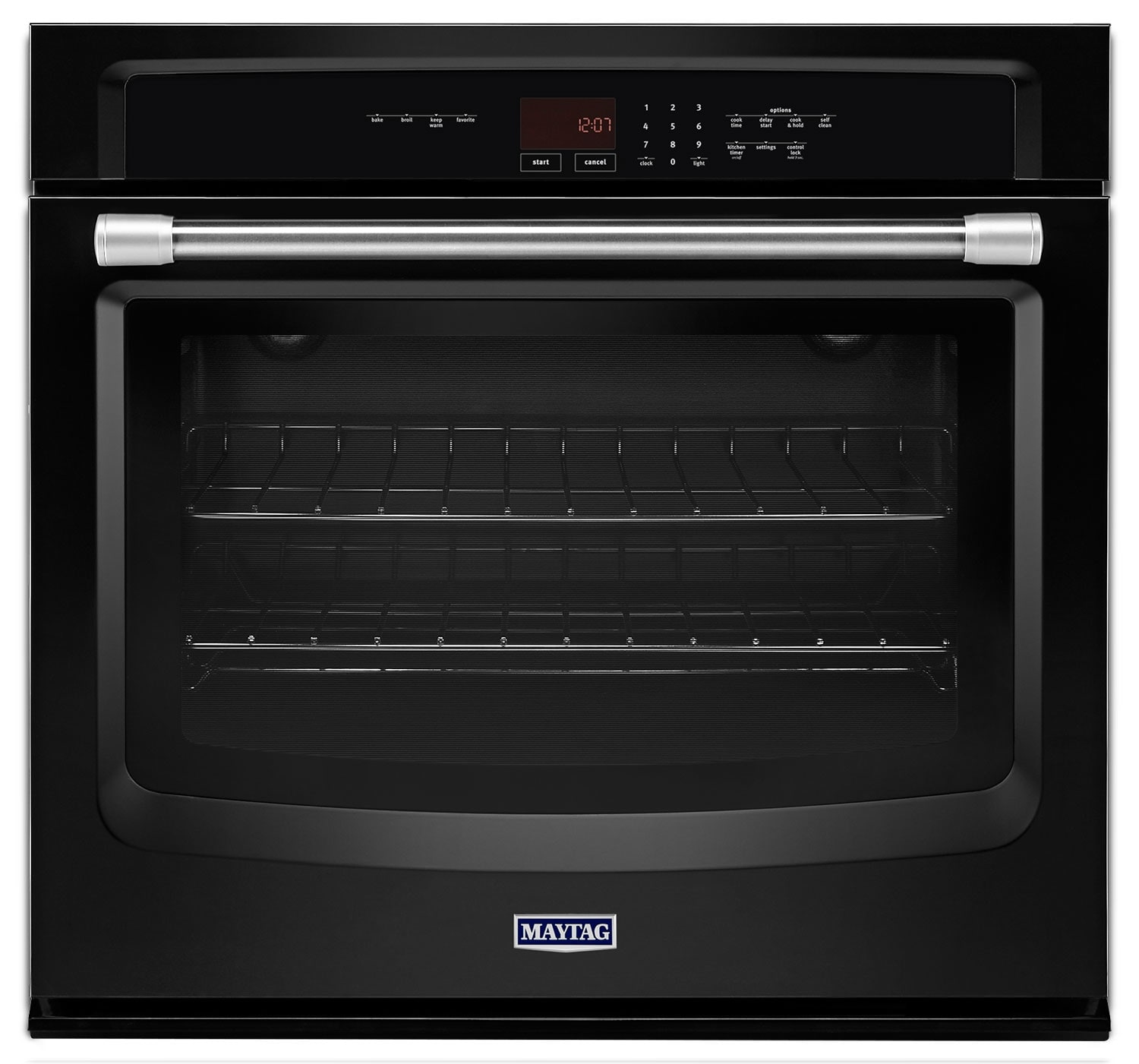 Cooking Products - Maytag Black Wall Oven (5.0 Cu. Ft.) - MEW7530DE
