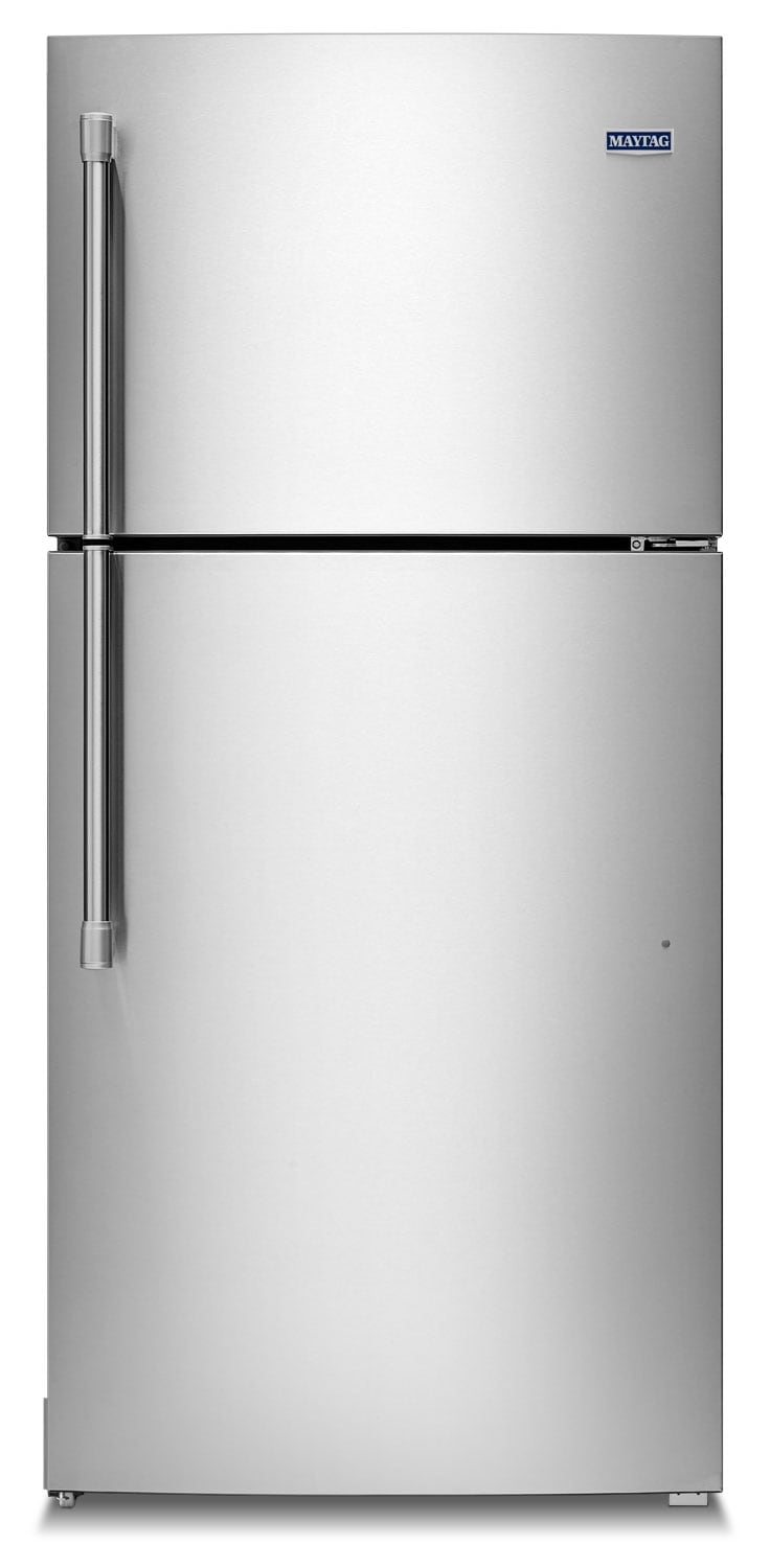 Refrigerators and Freezers - Maytag Stainless Steel Top-Freezer Refrigerator (19.1 Cu. Ft.) - MRT519SZDM
