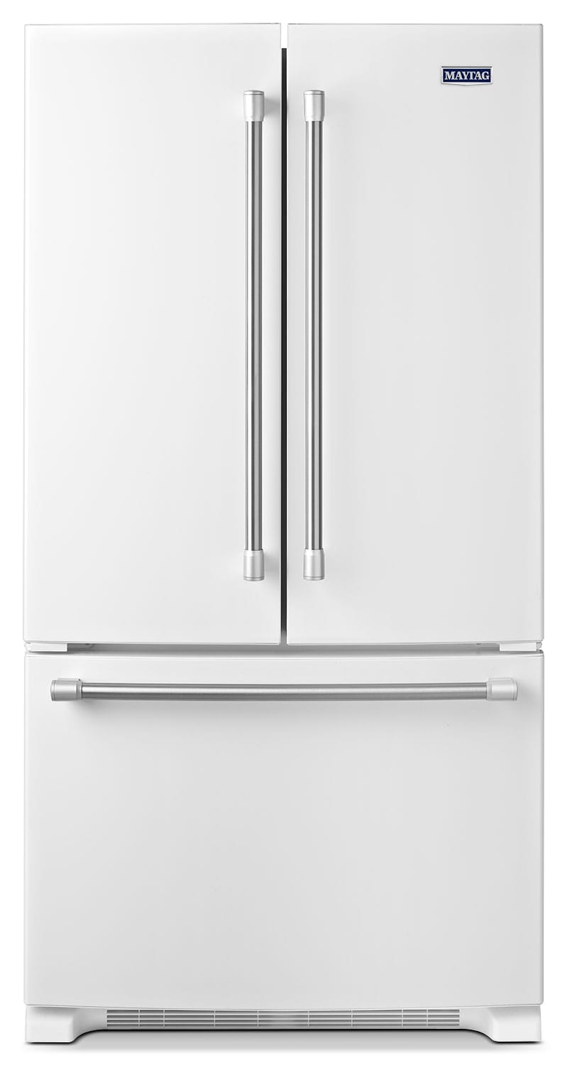 [Maytag White French Door Refrigerator (22.1 Cu. Ft.) - MFF2258DEH]