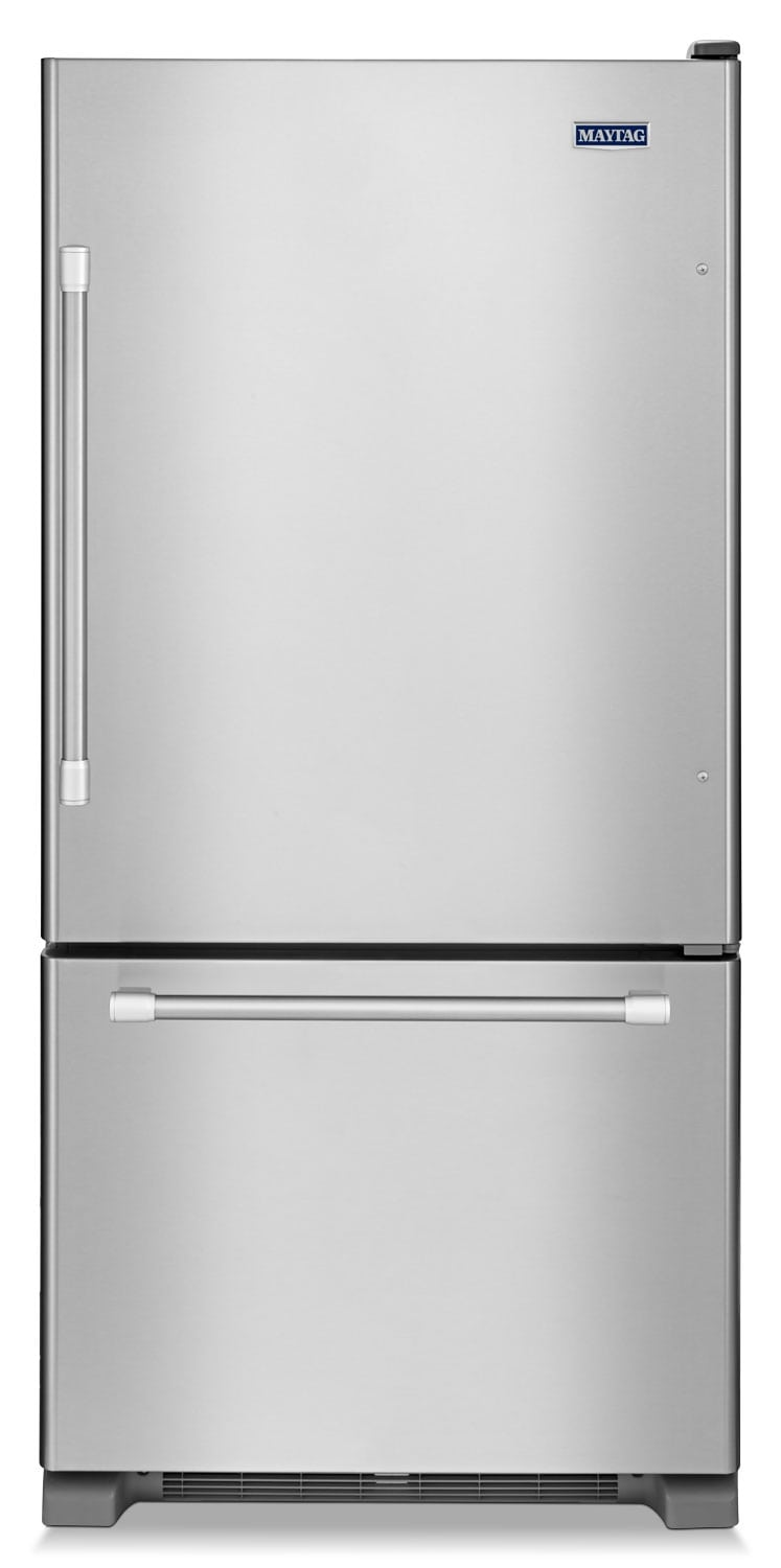 [Maytag Stainless Steel Bottom-Freezer Refrigerator (22.1 Cu. Ft.) - MBF2258DEM]