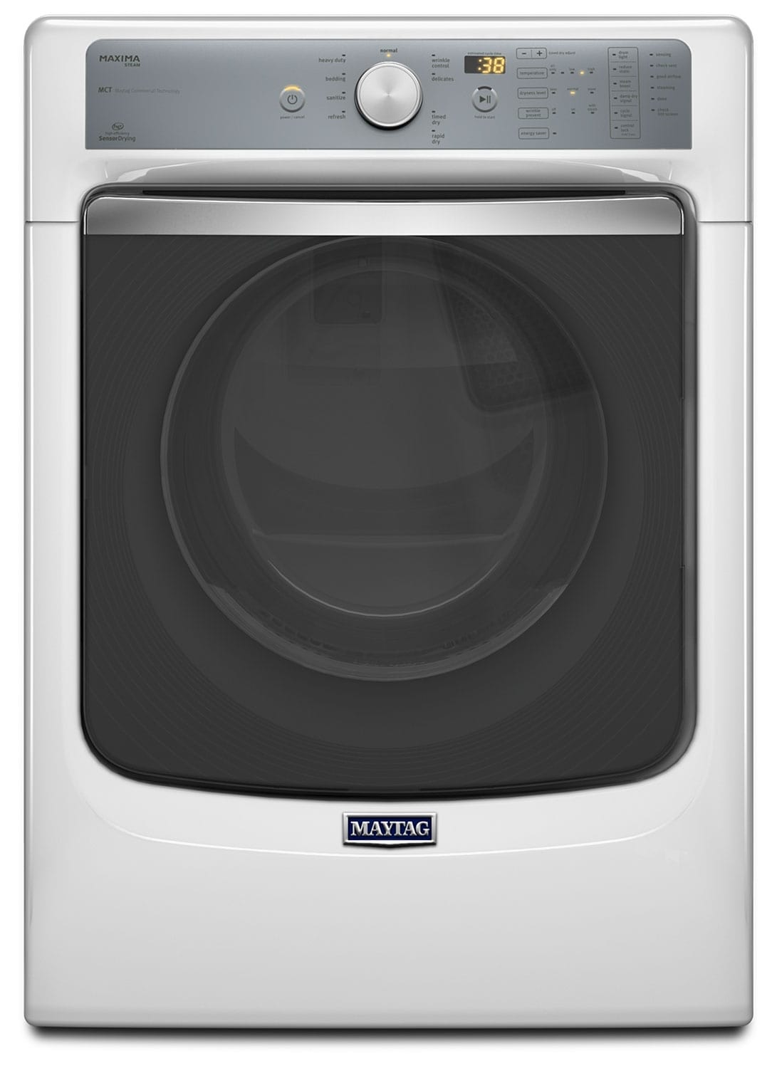 Washers and Dryers - Maytag White Electric Dryer (7.3 Cu. Ft.) - YMED7100DW