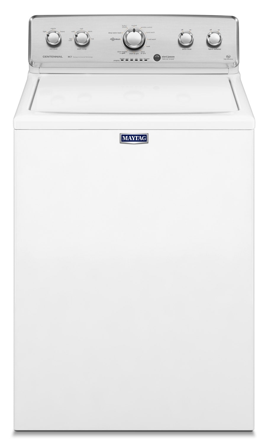 Washers and Dryers - Maytag White Top-Load Washer (5.0 Cu. Ft.) - MVWC555DW