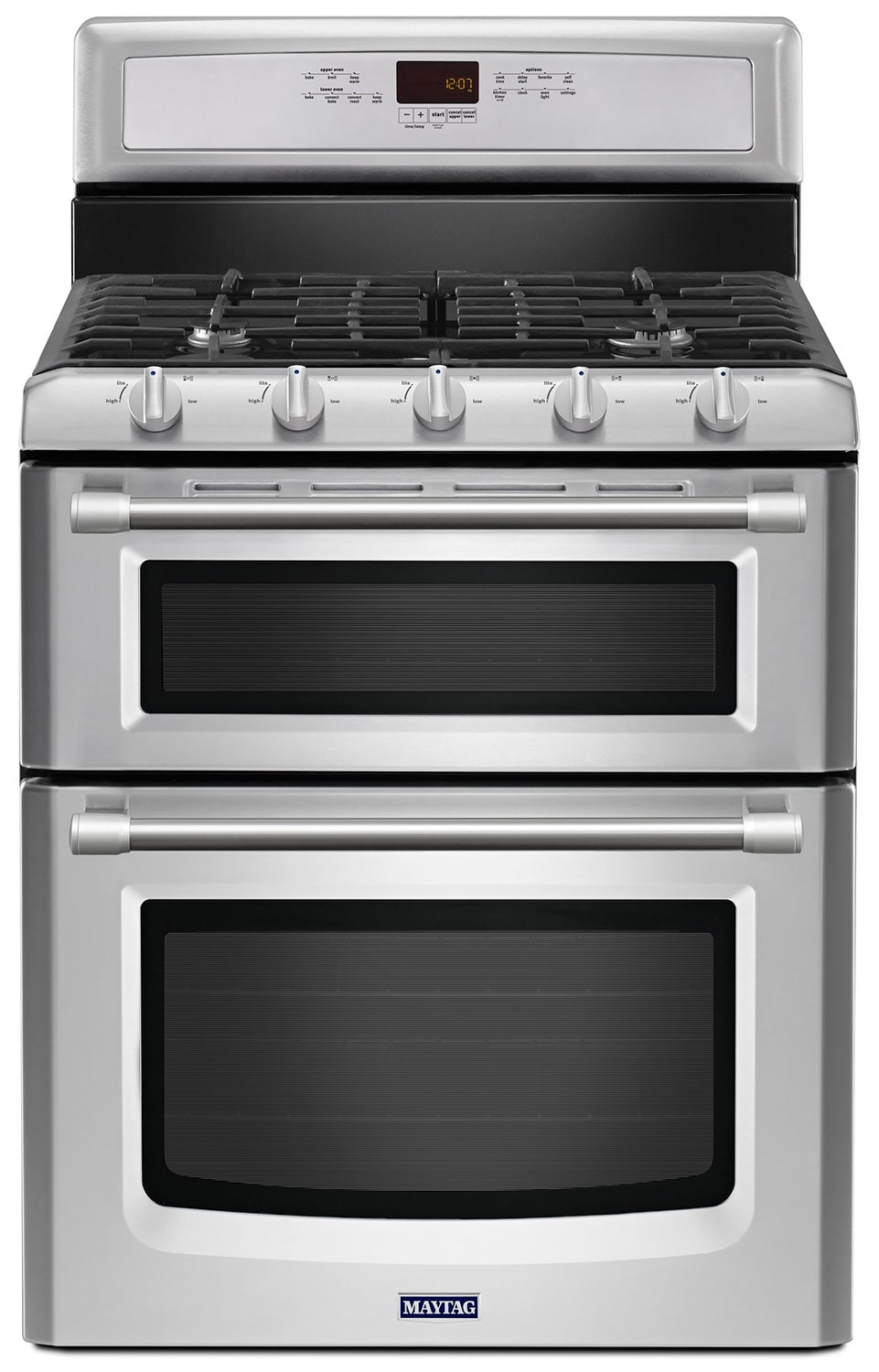 [Maytag Stainless Steel Freestanding Double Gas Range (6.0 Cu. Ft.) - MGT8720DS]