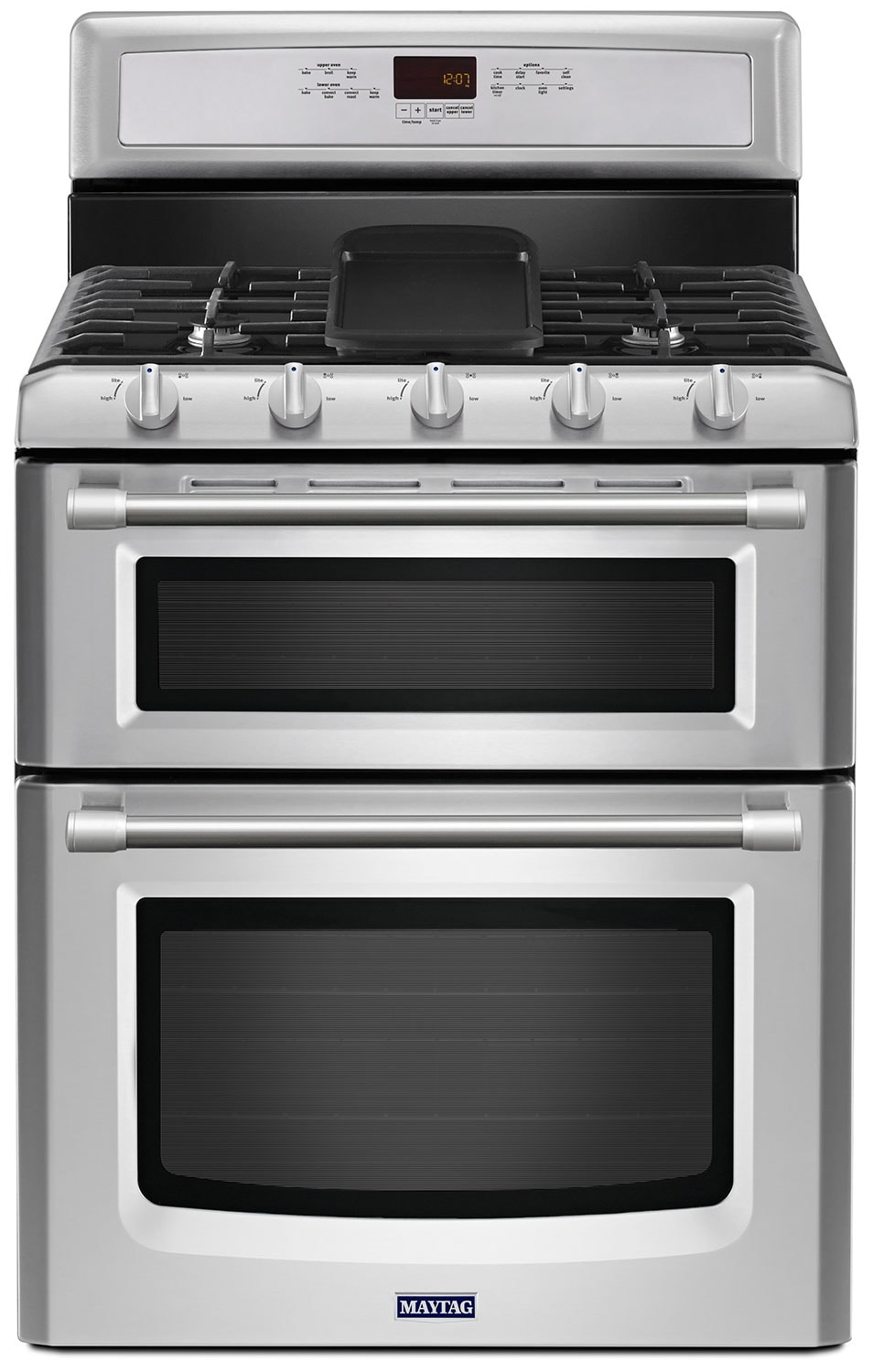 [Maytag Stainless Steel Freestanding Double Gas Range (6.0 Cu. Ft.) - MGT8820DS]