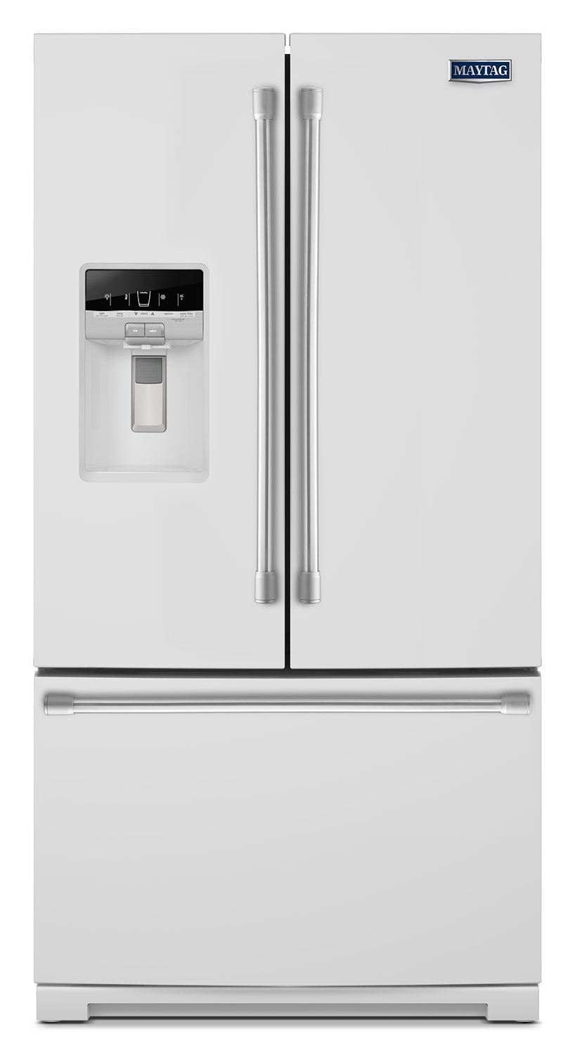 Refrigerators and Freezers - Maytag White French Door Refrigerator (26.8 Cu. Ft.) - MFT2776DEH