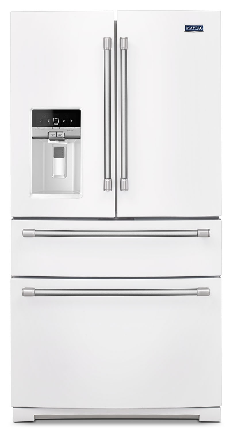 Refrigerators and Freezers - Maytag White French Door Refrigerator (26.1 Cu. Ft.) - MFX2876DRH