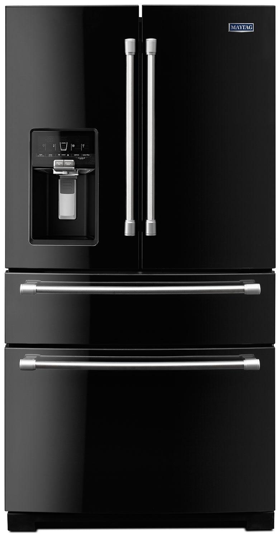 [Maytag Black French Door Refrigerator (26.1 Cu. Ft.) - MFX2876DRE]