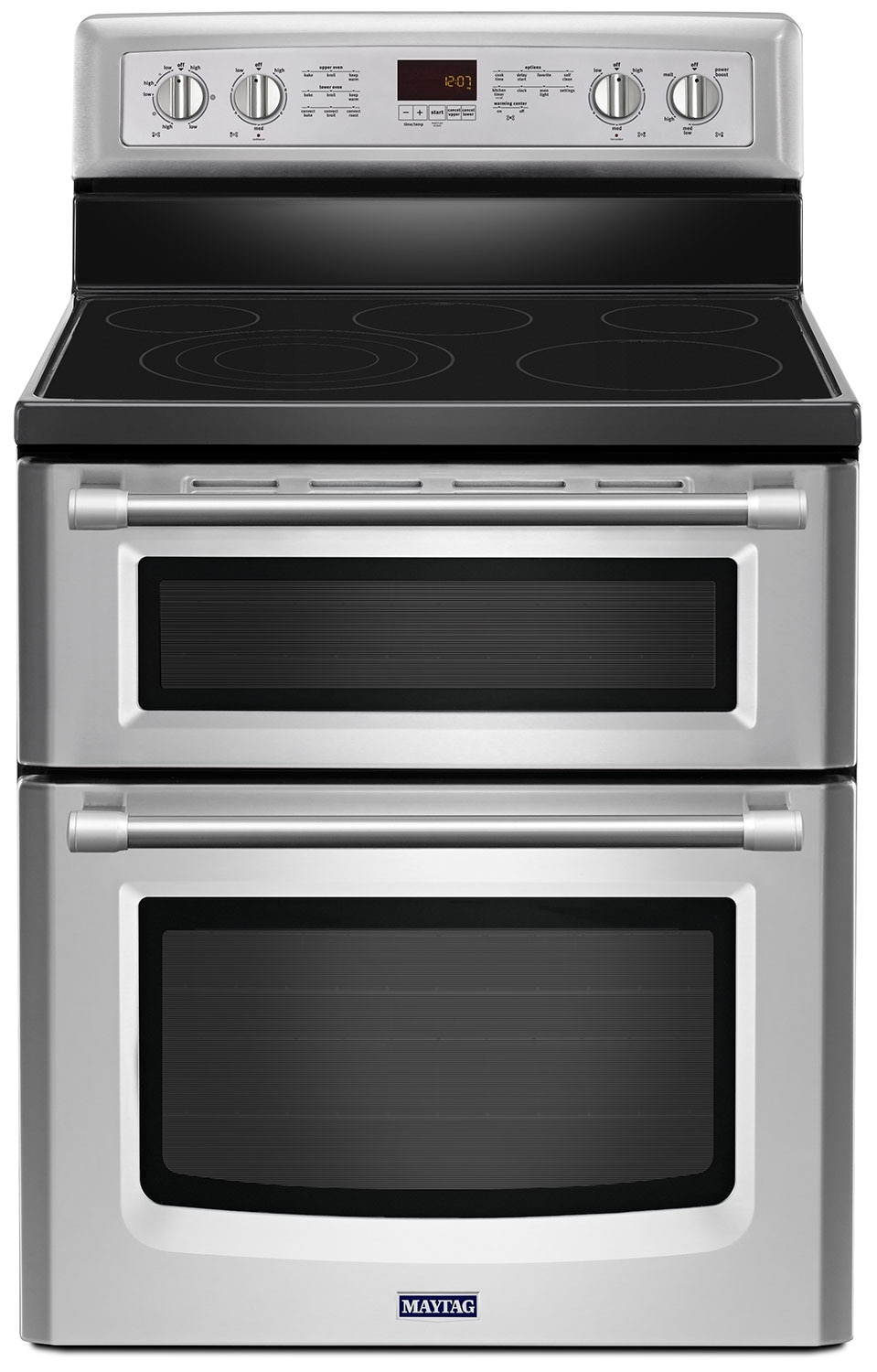[Maytag Stainless Steel Freestanding Electric Double Range (6.7 Cu. Ft.) - YMET8820DS]