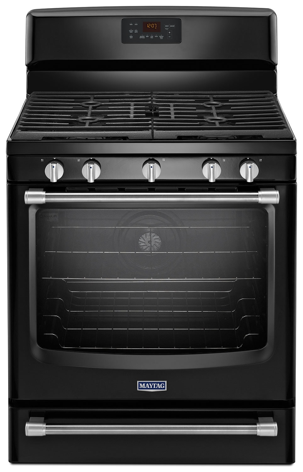 Cooking Products - Maytag Black Freestanding Gas Convection Range (5.8 Cu. Ft.) - MGR8700DE