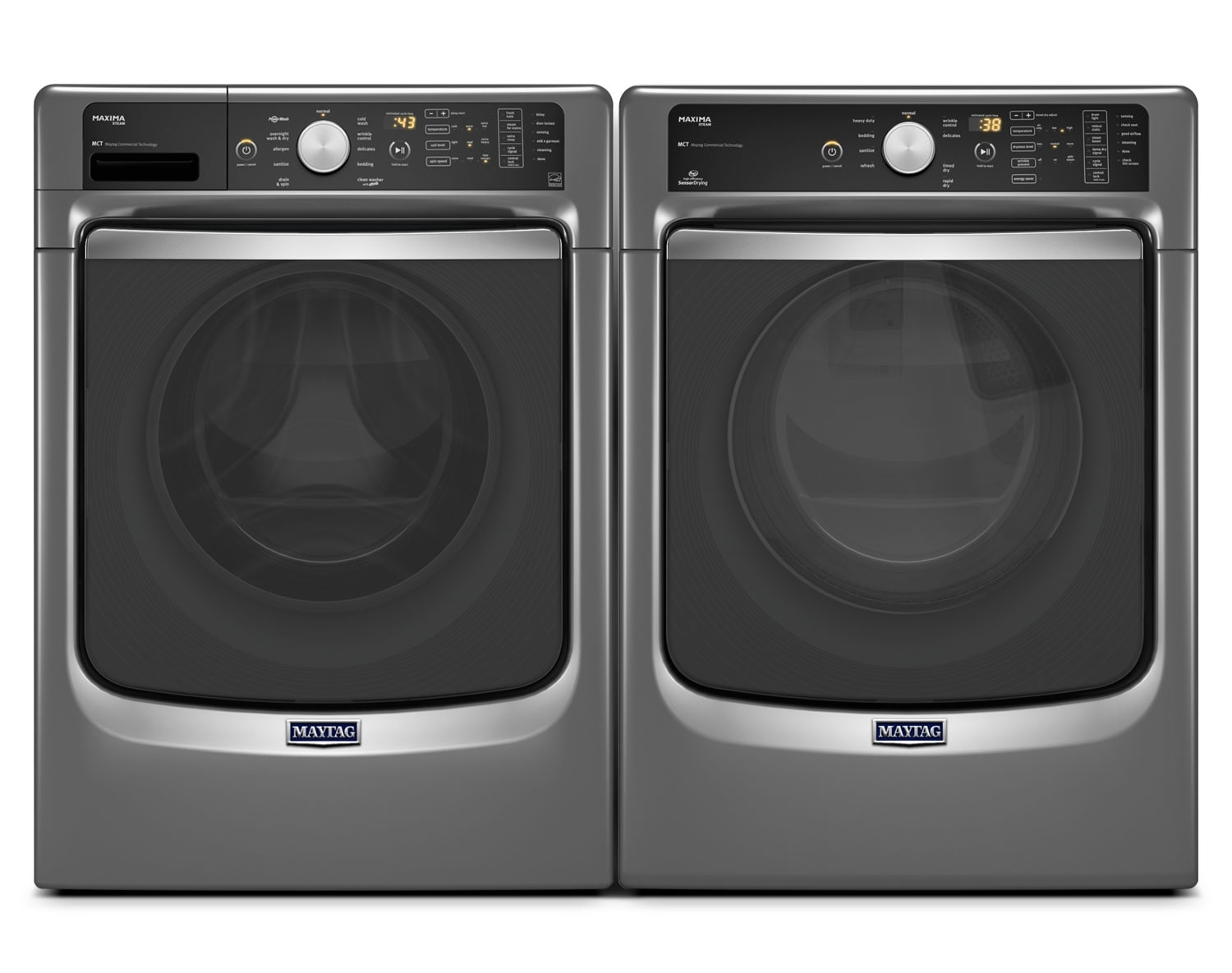 [Maytag Metallic Slate Front-Load Laundry Pair]