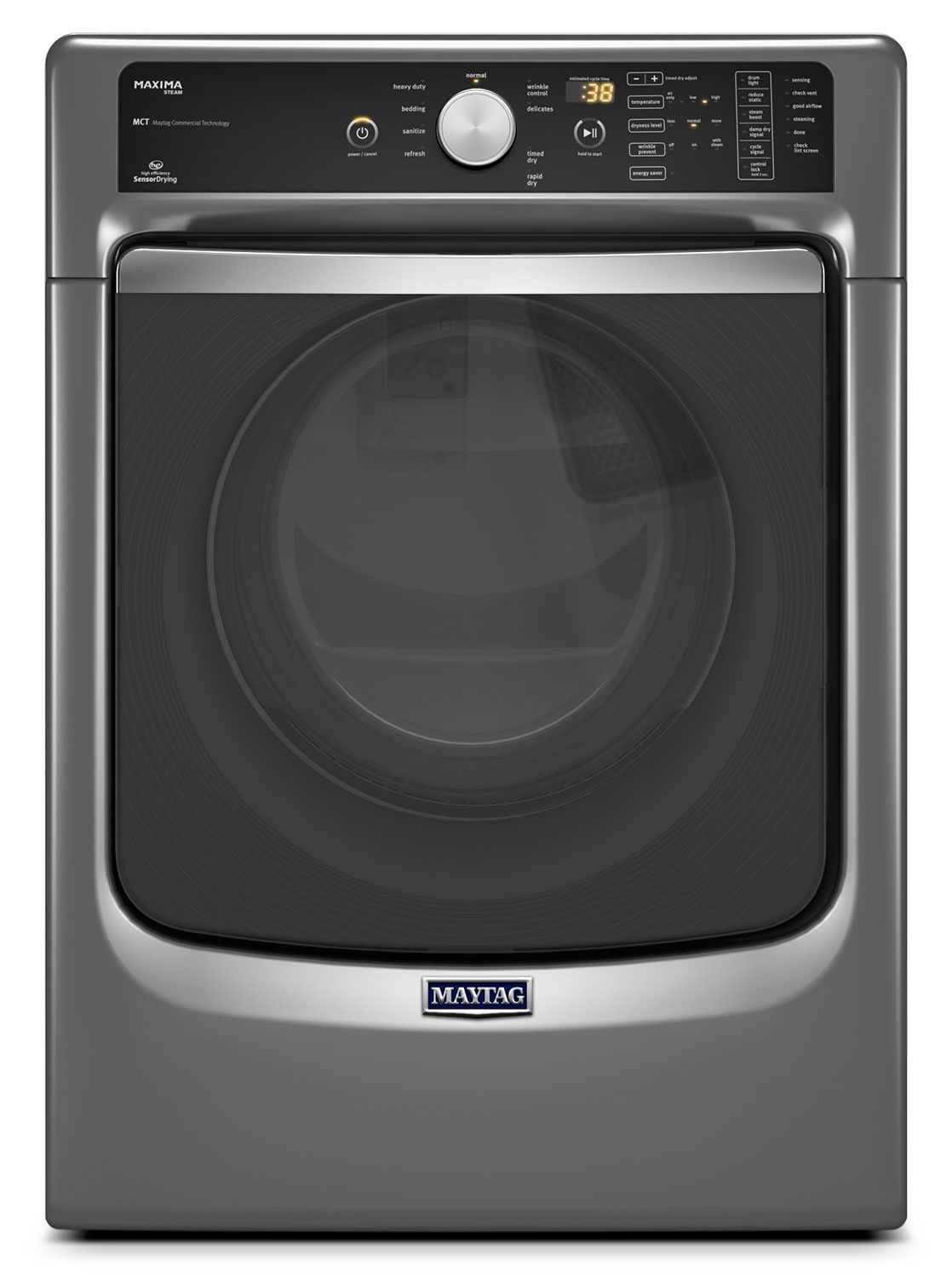 Washers and Dryers - Maytag Metallic Slate Gas Dryer (7.3 Cu. Ft.) - MGD7100DC