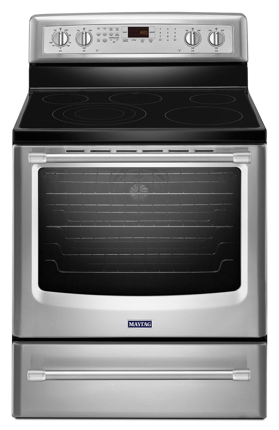 [Maytag Stainless Steel Freestanding Electric Convection Range (6.2 Cu Ft.) - YMER8850DS]