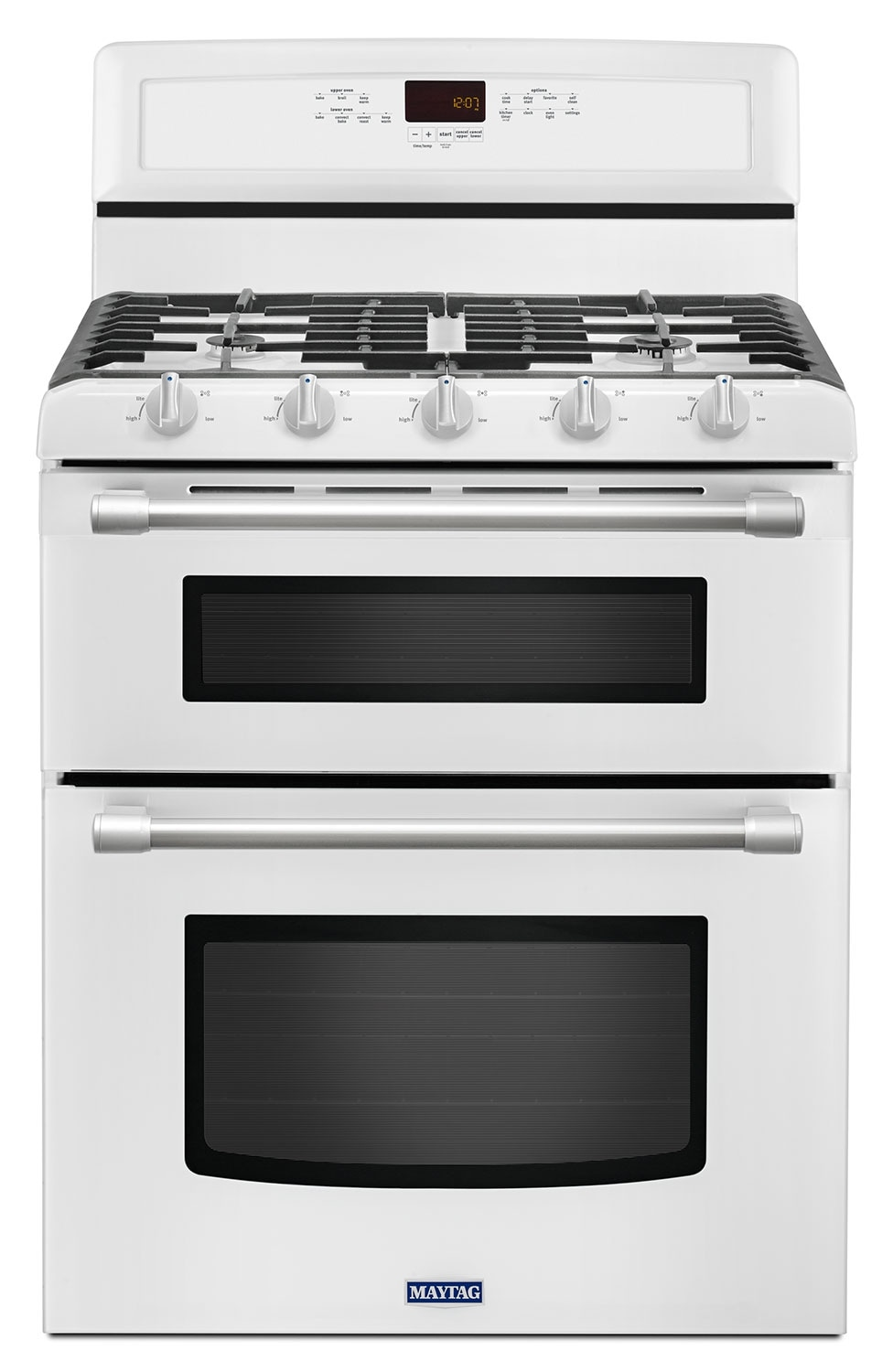 [Maytag White Freestanding Double Gas Range (6.0 Cu. Ft.) - MGT8720DH]