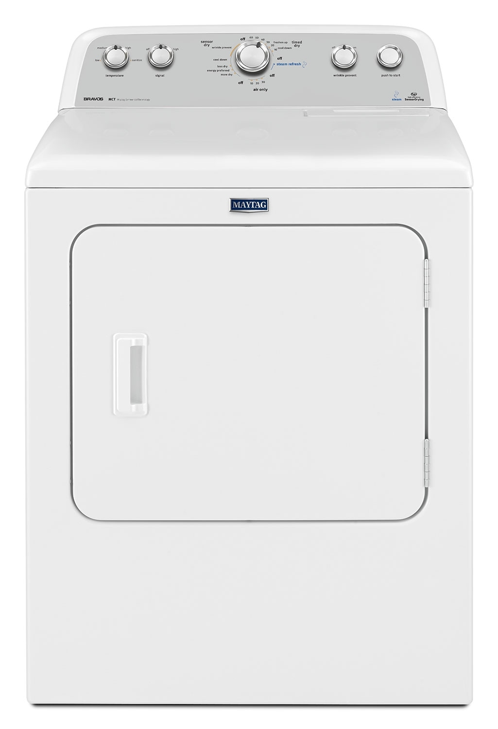 Washers and Dryers - Maytag White Gas Dryer (7.0 Cu. Ft.) - MGDX6STBW