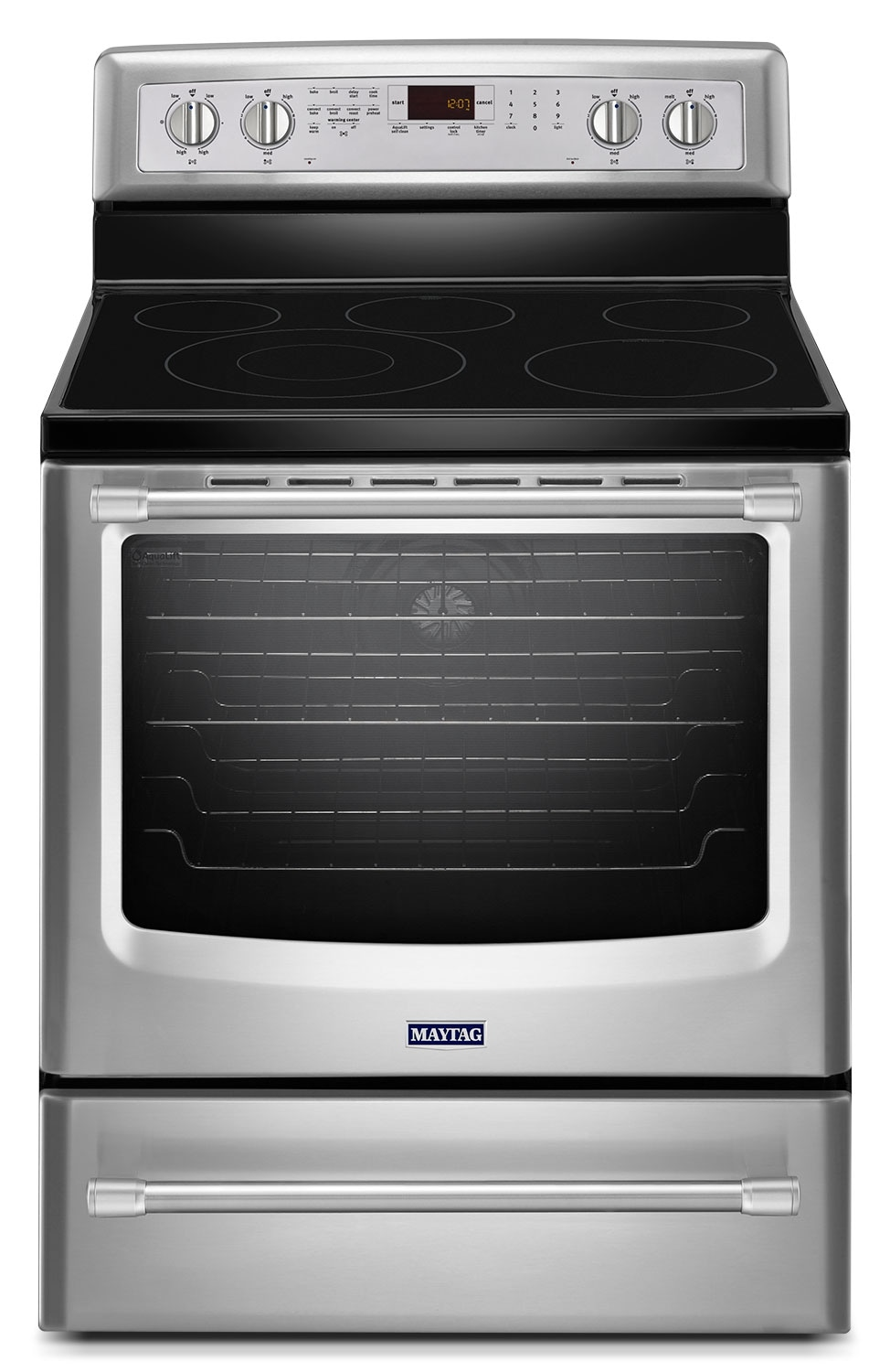 [Maytag Stainless Steel Freestanding Electric Convection Range (6.2 Cu. Ft.) - YMER8800DS]