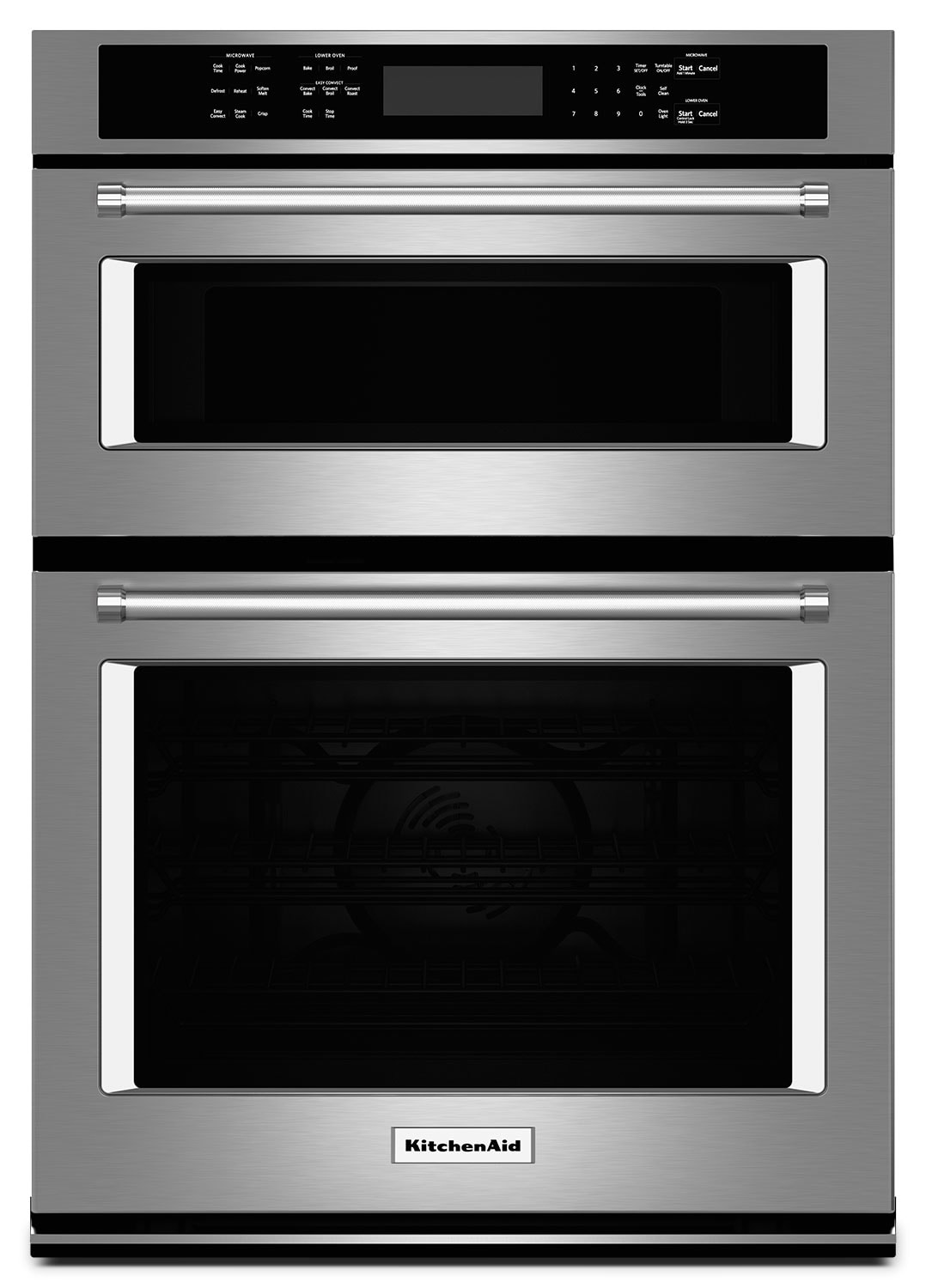 "Cooking Products - KitchenAid 27"" Combination Wall Oven with Even-Heat™ True Convection - Stainless Steel"