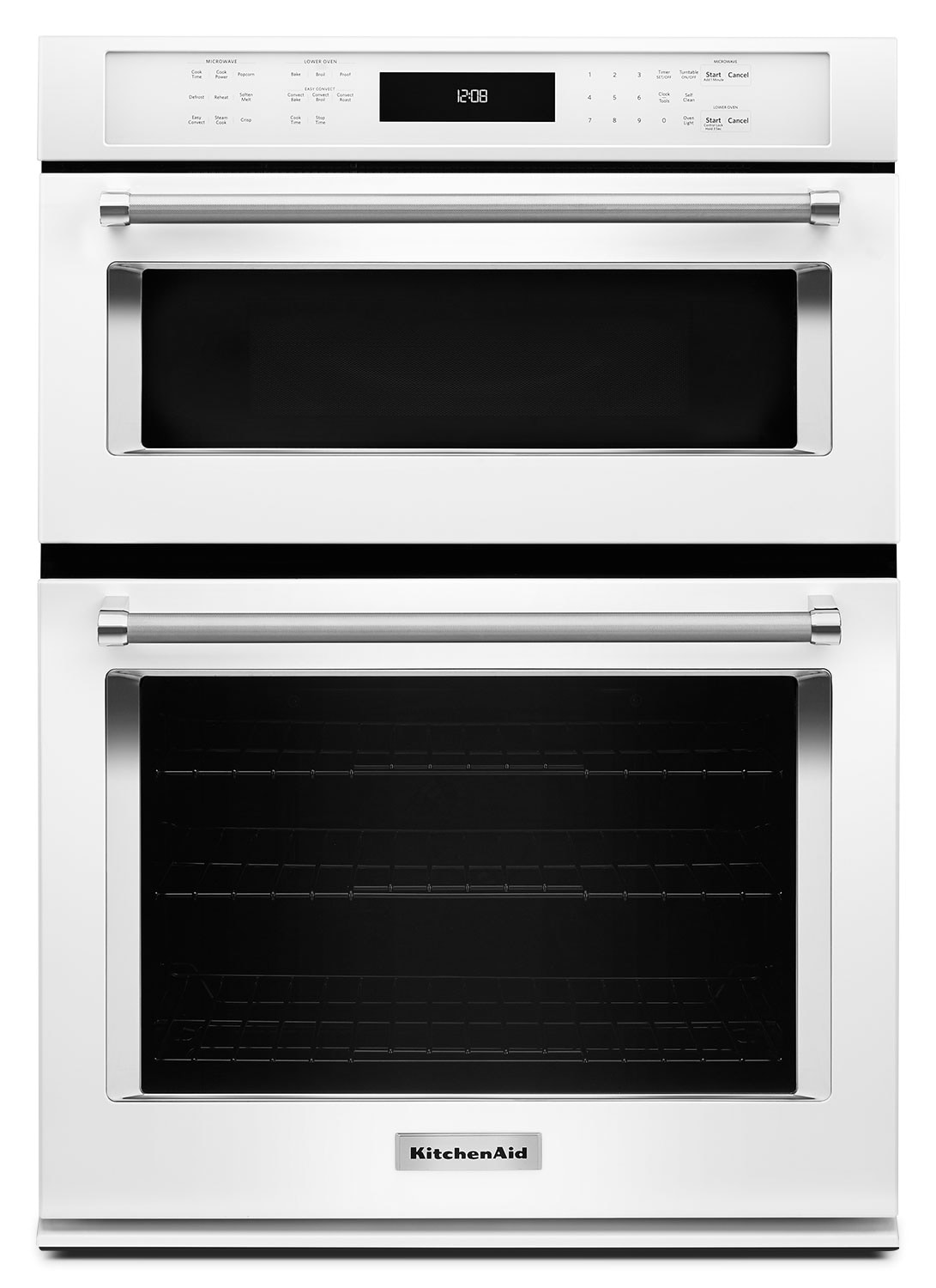 "Cooking Products - KitchenAid 27"" Combination Wall Oven with Even-Heat™ True Convection - White"