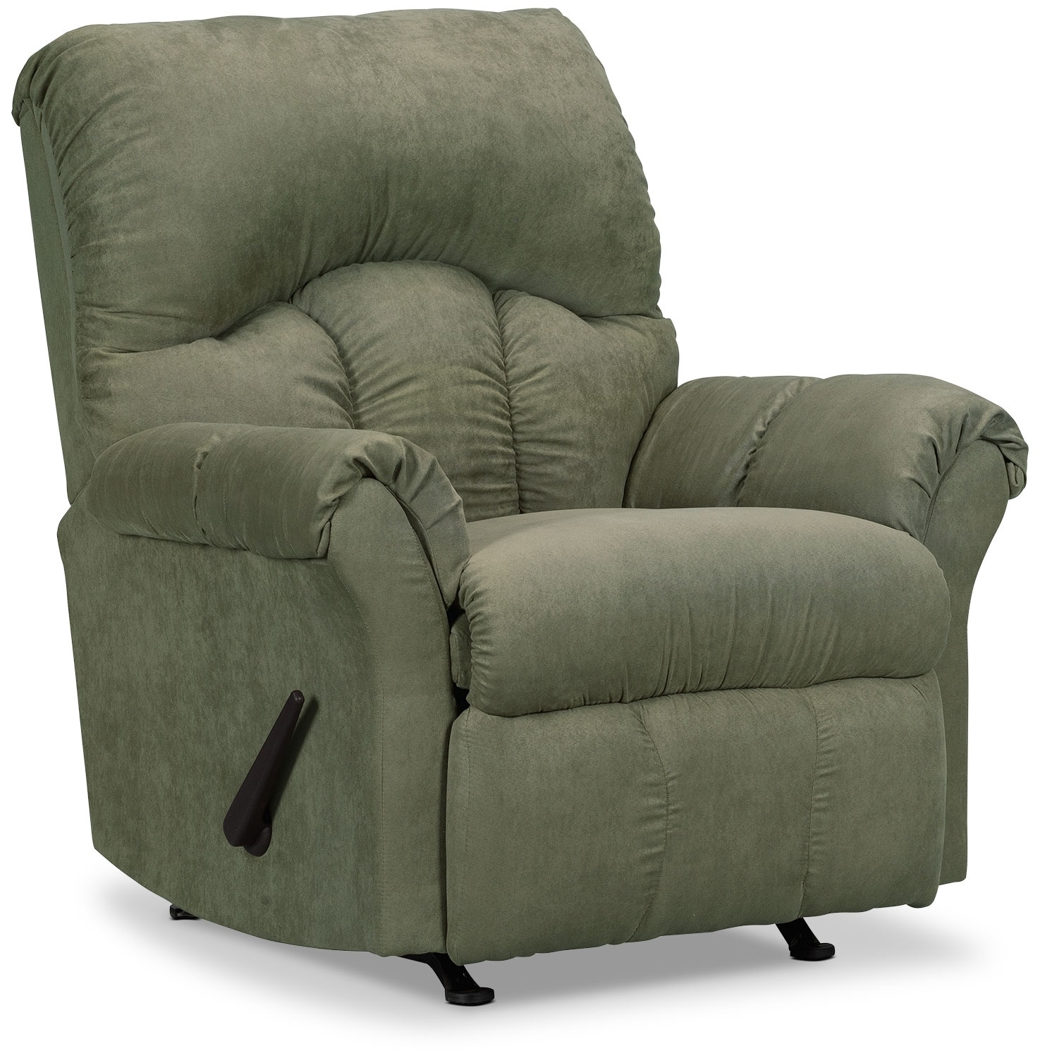 Living Room Furniture - Designed2B Recliner 6734 Microsuede Rocking Chair - Fern