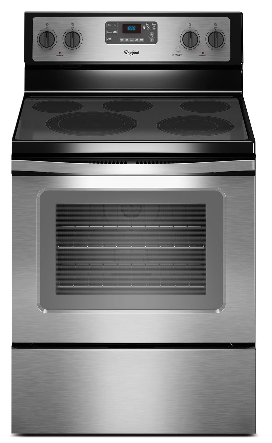 Whirlpool 5 3 Cu Ft Free Standing Electric Range Stainless Steel United Furniture Warehouse