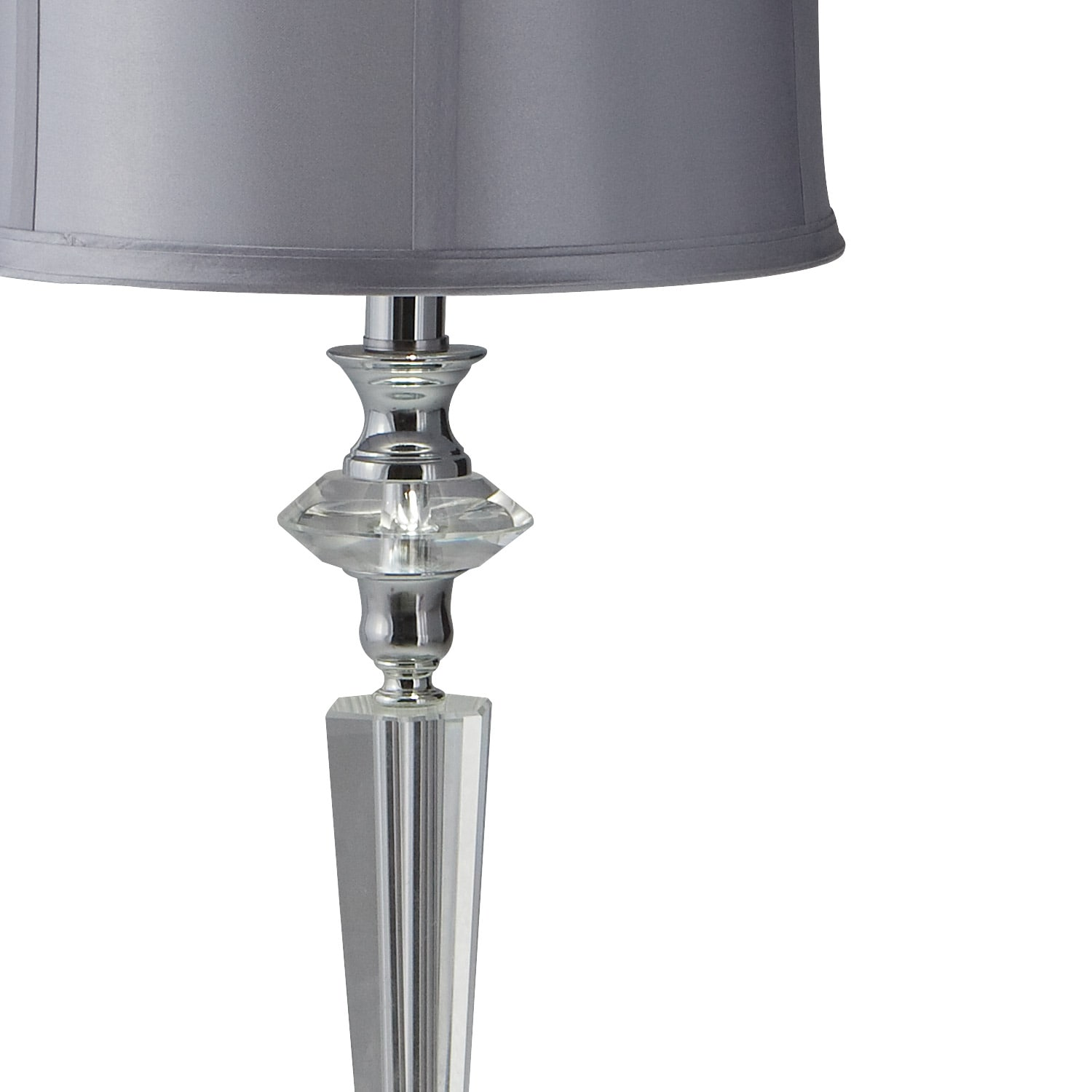 crystal silver table lamp american signature furniture