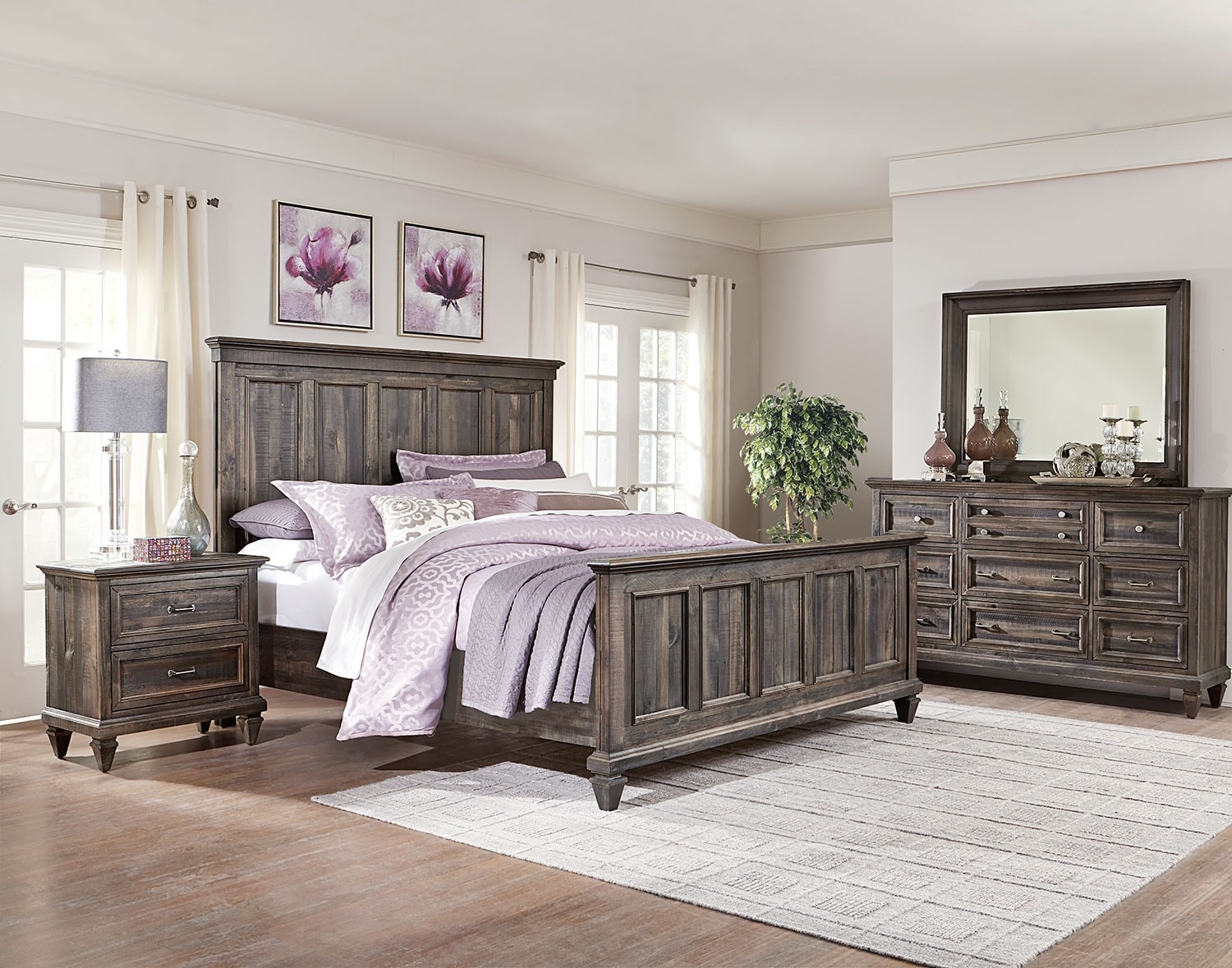Calistoga 6-Piece Queen Bedroom Package - Weathered Charcoal