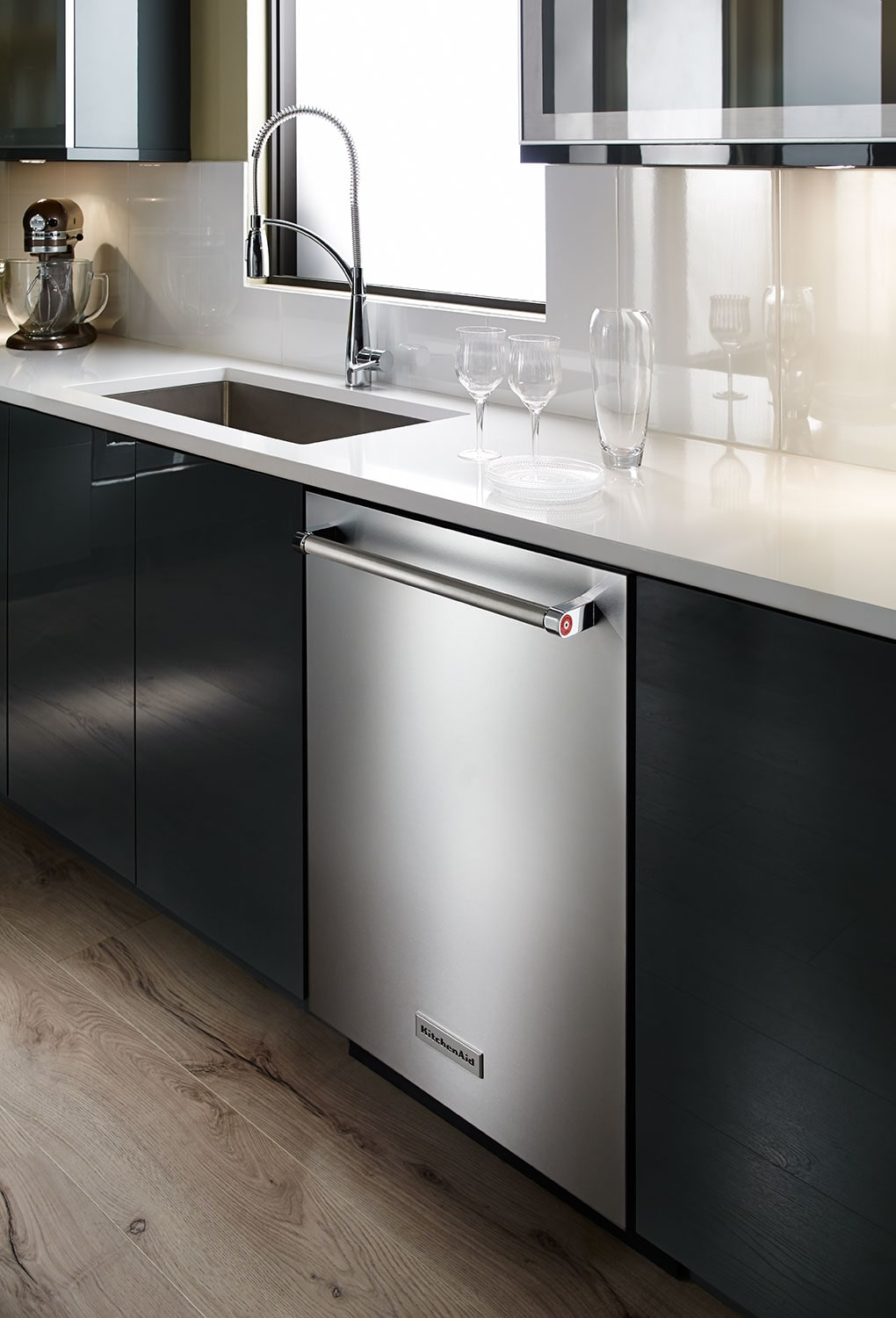 "Kitchenaid Dishwasher Stainless Steel kitchenaid stainless steel 24"" dishwasher - kdte204ess 