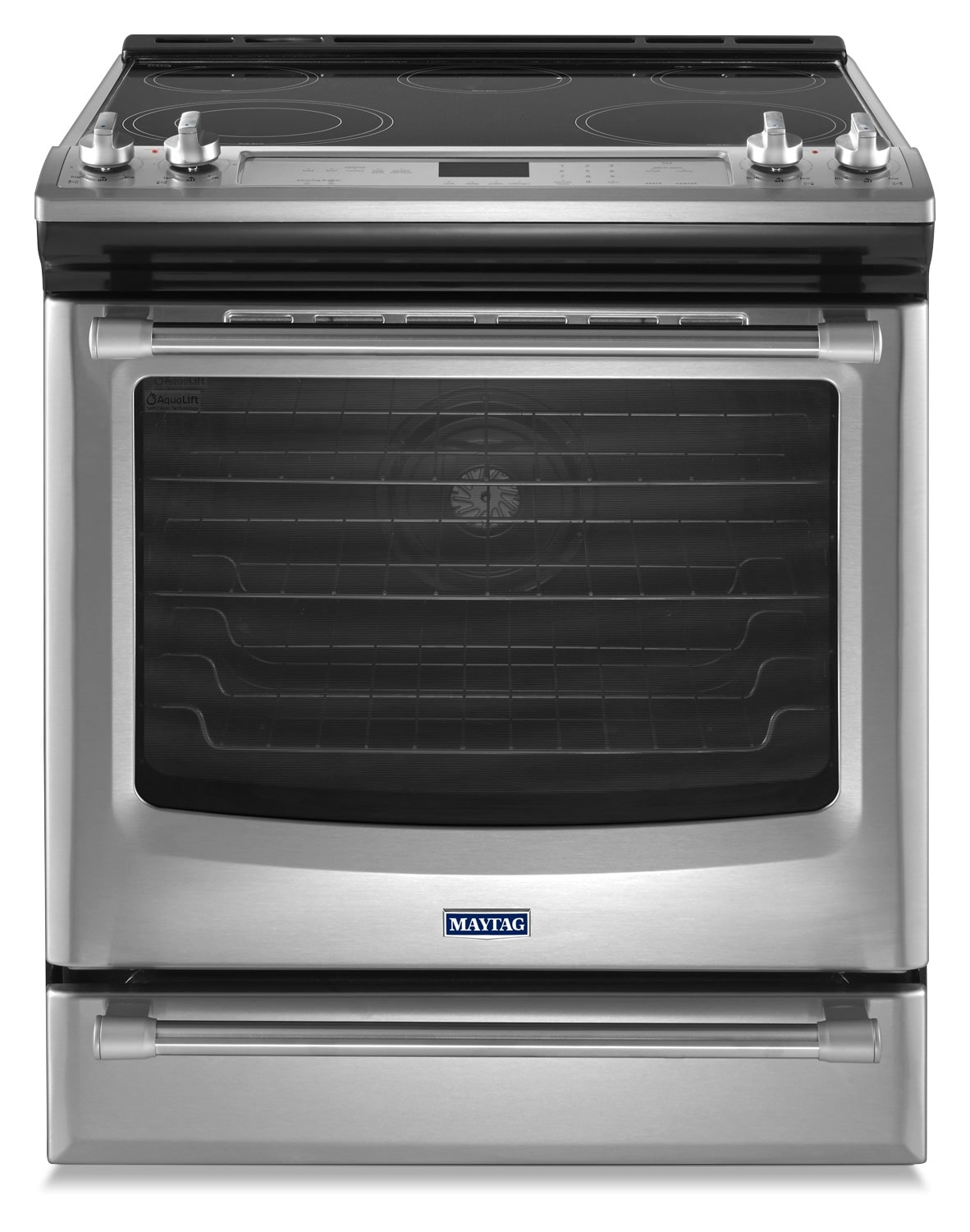 [Maytag Stainless Steel Slide-In Electric Convection Range (6.4 Cu. Ft.) - YMES8880DS]