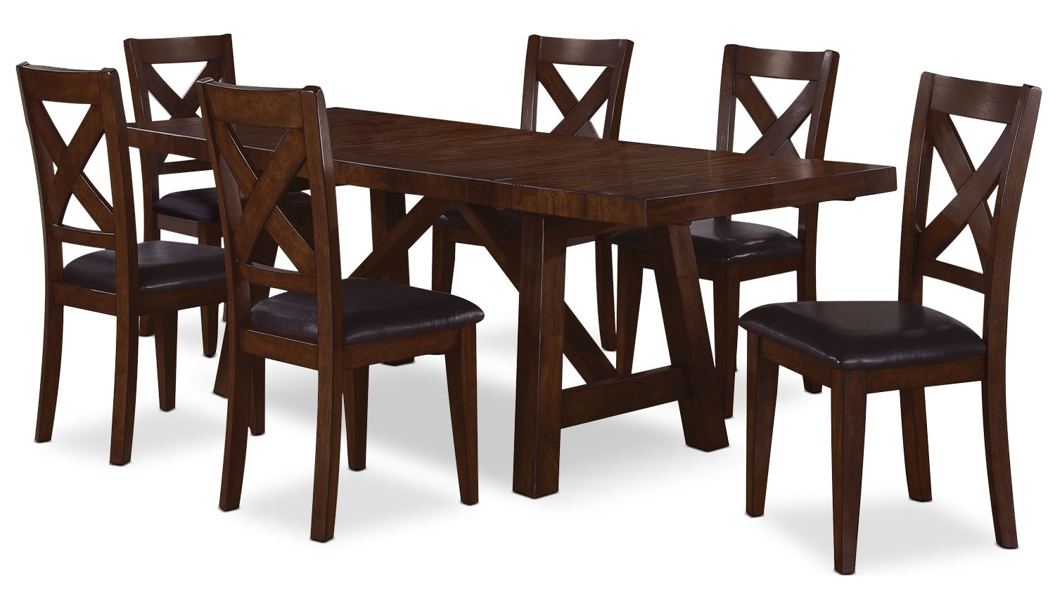 Dining Room Furniture - Adara 7 Piece Dining Package with Cross-Back Chairs